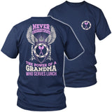 Lunch Lady - Never Underestimate - District Unisex Shirt / Navy / S - 5