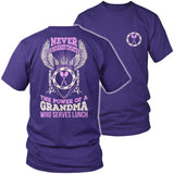 Lunch Lady - Never Underestimate - District Unisex Shirt / Purple / S - 7