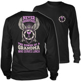 Lunch Lady - Never Underestimate - District Long Sleeve / Black / S - 9