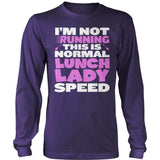 Lunch Lady - Normal Speed - District Long Sleeve / Purple / S - 11