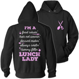 Lunch Lady - Poem - Hoodie / Black / S - 12
