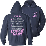 Lunch Lady - Poem - Hoodie / Navy / S - 13