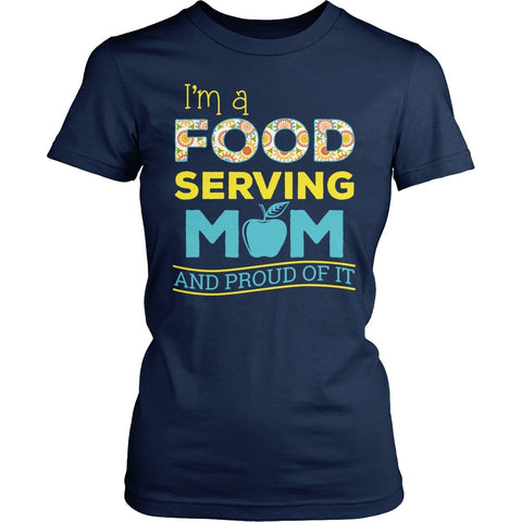 Lunch Lady - Proud Mom - District Made Womens Shirt / Navy / S - 1
