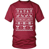 Lunch Lady - Ugly Sweater - District Unisex Shirt / Red / S - 5