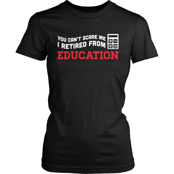 Math - Can't Scare Me - District Made Womens Shirt / Black / S - 1