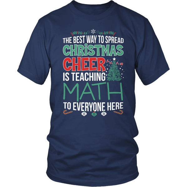 Math - Christmas Cheer - District Unisex Shirt / Navy / S - 5