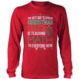 Math - Christmas Cheer - District Long Sleeve / Red / S - 9