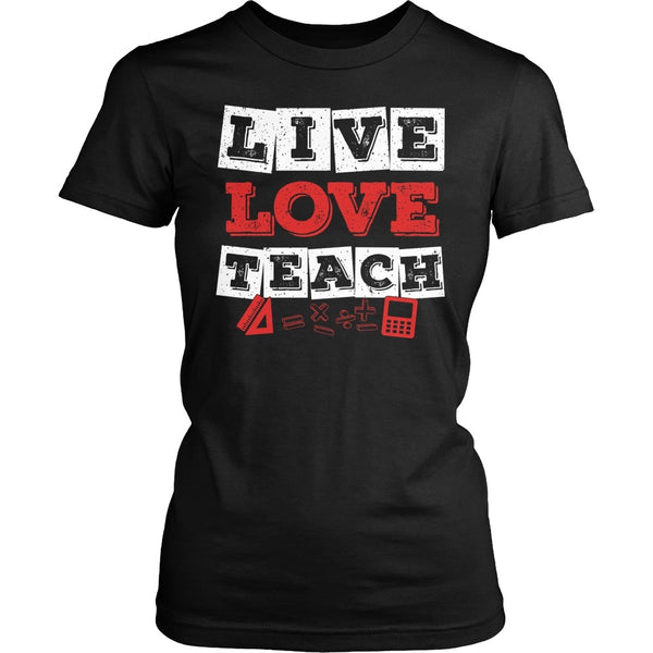 Math - Live Love - District Made Womens Shirt / Black / S - 1