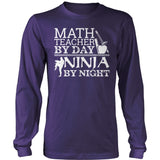 Math - Ninja - District Long Sleeve / Purple / S - 11