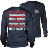 Math - Poem - District Long Sleeve / Navy / S - 11