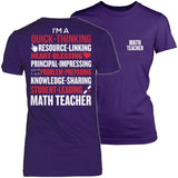 Math - Poem - District Made Womens Shirt / Purple / S - 3