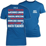 Math - Poem - District Made Womens Shirt / Royal / S - 4
