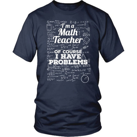 Math - Problems - District Unisex Shirt / Navy / S - 1