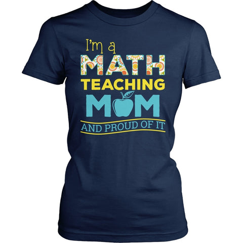 Math - Proud Mom - District Made Womens Shirt / Navy / S - 1