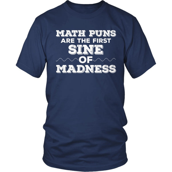 Math - Sine of Madness - District Unisex Shirt / Navy / S - 1