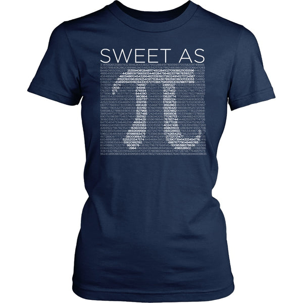 Math - Sweet As Pi - District Made Womens Shirt / Navy / S - 1