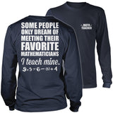 Math - Teach Mine - District Long Sleeve / Navy / S - 10