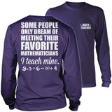 Math - Teach Mine - District Long Sleeve / Purple / S - 11