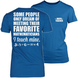 Math - Teach Mine - District Made Womens Shirt / Royal / S - 1
