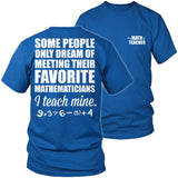 Math - Teach Mine - District Unisex Shirt / Royal Blue / S - 8