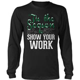 Math - 'Tis the Season - District Long Sleeve / Black / S - 3