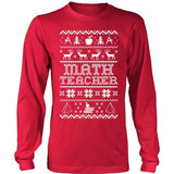 Math - Ugly Sweater - District Long Sleeve / Red / S - 1