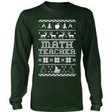 Math - Ugly Sweater - District Long Sleeve / Dark Green / S - 2