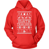 Math - Ugly Sweater - Hoodie / Red / S - 7
