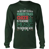 Music - Christmas Cheer - District Long Sleeve / Dark Green / S - 9