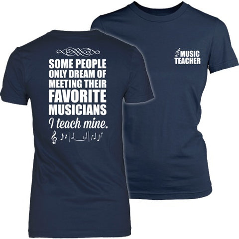 Music - I Teach Mine - District Made Womens Shirt / Navy / S - 1
