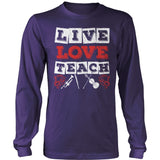 Music - Live Love - District Long Sleeve / Purple / S - 11