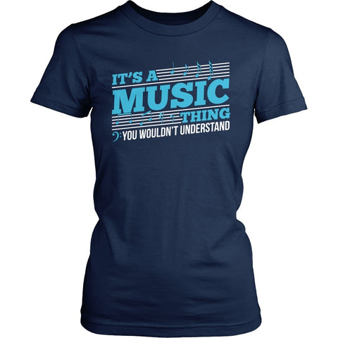 Music - Music Thing - District Made Womens Shirt / Navy / S - 1
