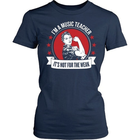 Music - Not for the Weak - District Made Womens Shirt / Navy / S - 1