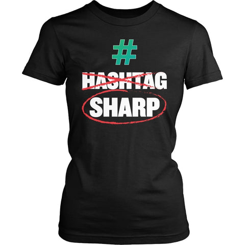 Music - Sharp - District Made Womens Shirt / Black / S - 1