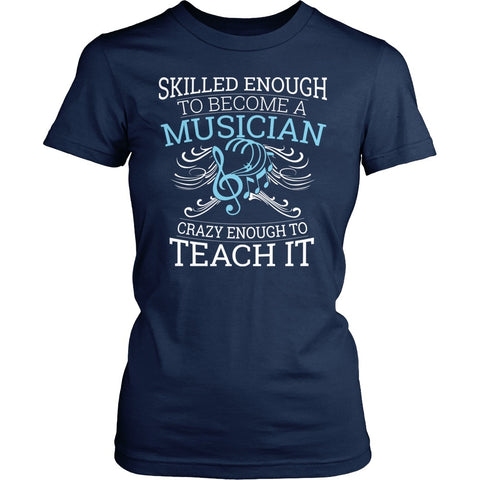 Music - Skilled Enough - District Made Womens Shirt / Navy / S - 1
