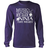 Music - Teacher By Day - District Long Sleeve / Purple / S - 11