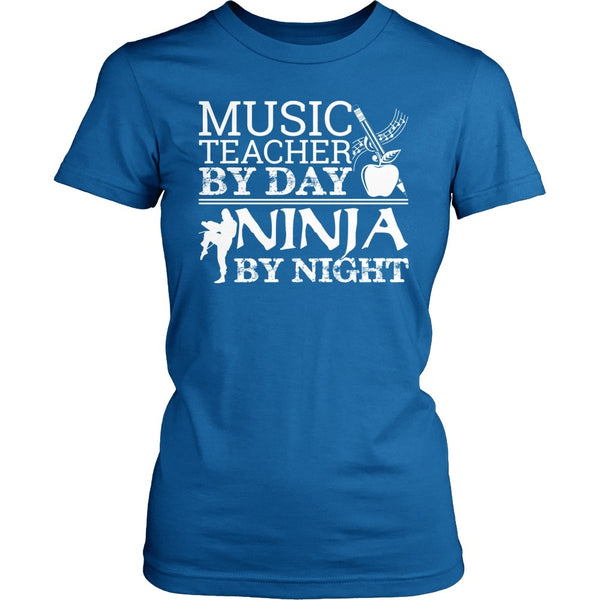Music - Teacher By Day - District Made Womens Shirt / Royal / S - 1