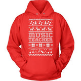 Music - Ugly Sweater - Hoodie / Red / S - 2