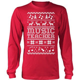 Music - Ugly Sweater - District Long Sleeve / Red / S - 4