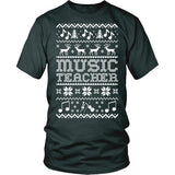 Music - Ugly Sweater - District Unisex Shirt / Dark Green / S - 5