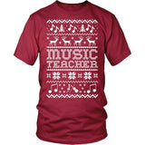 Music - Ugly Sweater - District Unisex Shirt / Red / S - 6