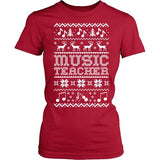 Music - Ugly Sweater - District Made Womens Shirt / Red / S - 8