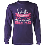 Nurse - Best Grandmas - District Long Sleeve / Purple / S - 11