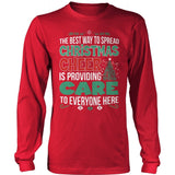 Nurse - Christmas Cheer - District Long Sleeve / Red / S - 9