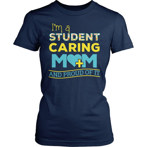 Nurse - Proud Mom - District Made Womens Shirt / Navy / S - 1