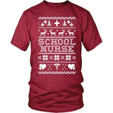 Nurse - Ugly Sweater - District Unisex Shirt / Red / S - 5
