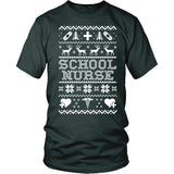 Nurse - Ugly Sweater - District Unisex Shirt / Dark Green / S - 6