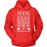 Nurse - Ugly Sweater - Hoodie / Red / S - 8