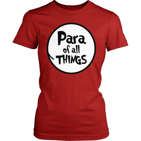 Para - Of All Things - District Made Womens Shirt / Red / S - 1