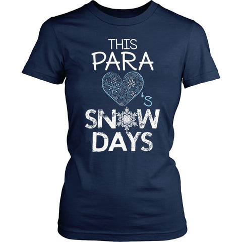 Para - Snow Days - District Made Womens Shirt / Navy / S - 1